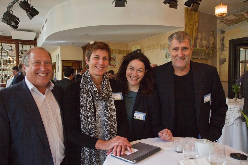 vlnr: Rolf Holub (Umweltlandesrat Kärnten), Astrid Rössler (Umweltlandesrätin Sa..