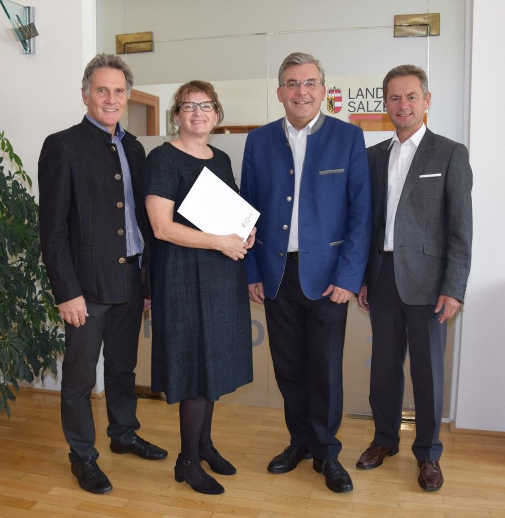 Othmar Glaeser (Leiter der Abteilung Natur- und Umweltschutz, Gewerbe), Angelika..