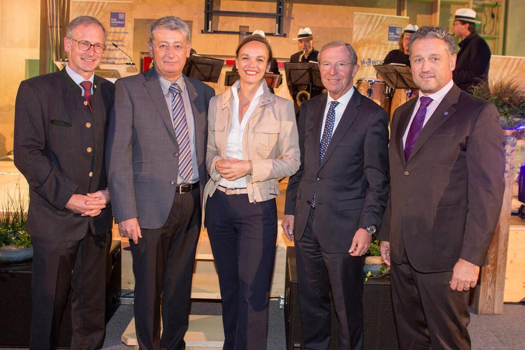 Direktor Hans Blinzer, Präsident Wolfgang Hutter, Bildungsministerin Sonja Hamme..