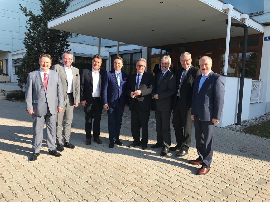LR Michael Ludwig,  LR Johannes Tratter, LR Hans Mayr, LH-Stv. Manfred Haimbuchn..