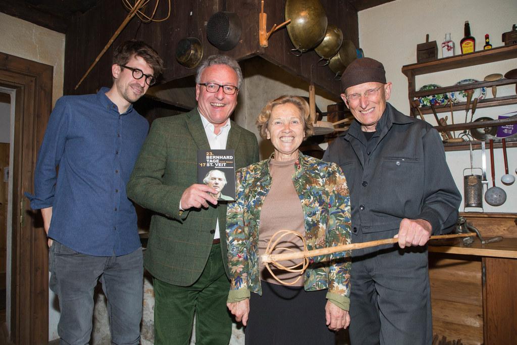 Harald Gschwandtner, Landesrat Heinrich Schellhorn, Hilda Brandstetter und Bodo ..