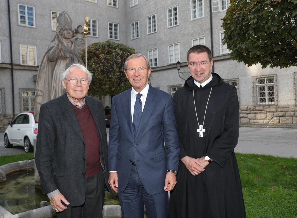 Generalsekretär Gerhard Walterskirchen, Landeshauptmann Wiflried Haslauer und Er..