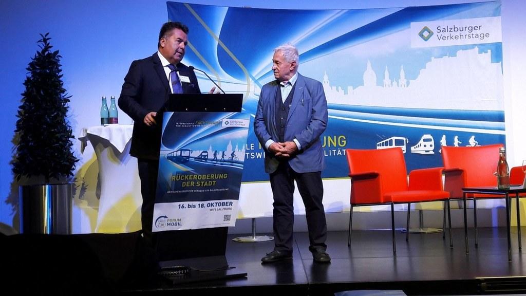 Landesrat Hans Mayr, Peter Haibach (Veranstalter Verkehrstage, Obmann Forum Mobi..