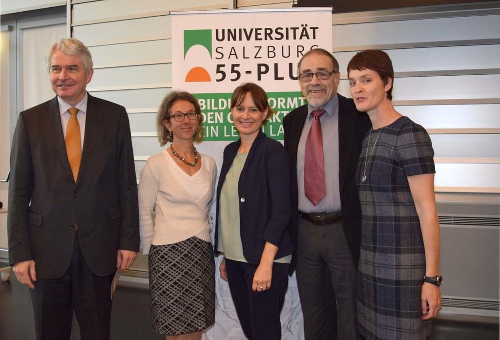v.l.n.r.: Rektor Univ. Prof. Heinrich Schmidinger, Univ.-Prof. Tina Hascher, Lan..