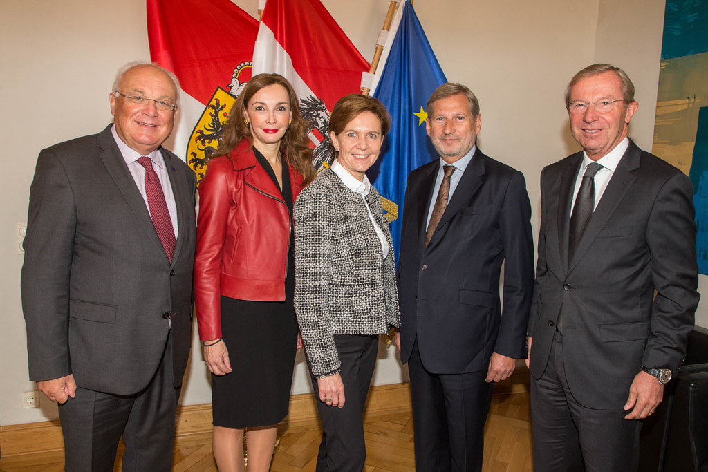 Treffen von EU-Kommissar Johannes Hahn und seinem Kabinett bei Landeshauptmann W..