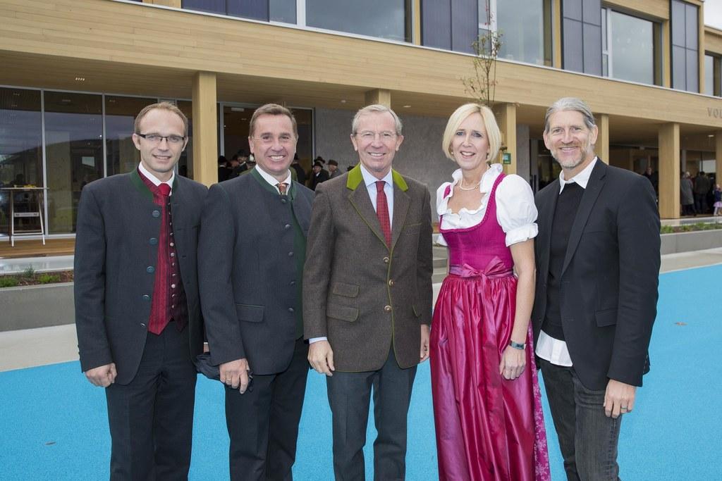 Bürgermeister Johannes Ebner, Salzburger Landesschulrat Johannes Plötzeneder, La..