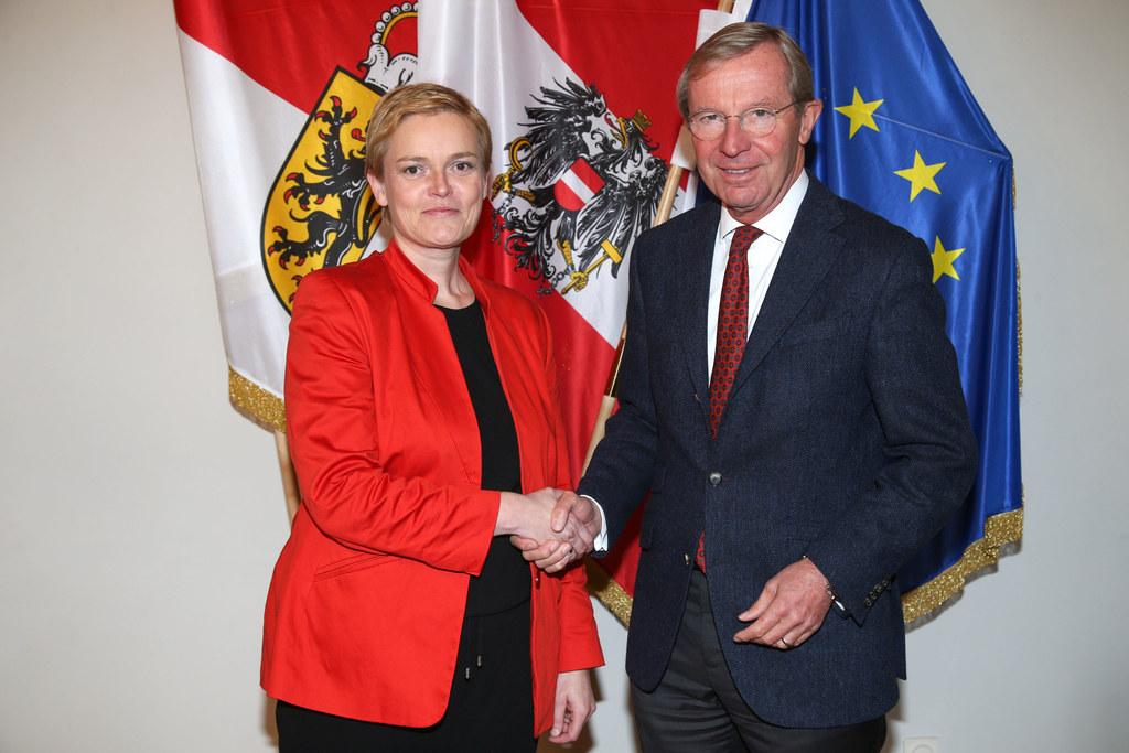Michaela Kardeis, Generaldirektorin für die öffentliche Sicherheit, und Landesha..