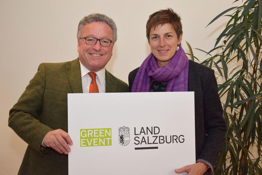 Landesrat Heinrich Schellhorn und Landeshauptmann-Stellvertreterin Astrid Rössle..
