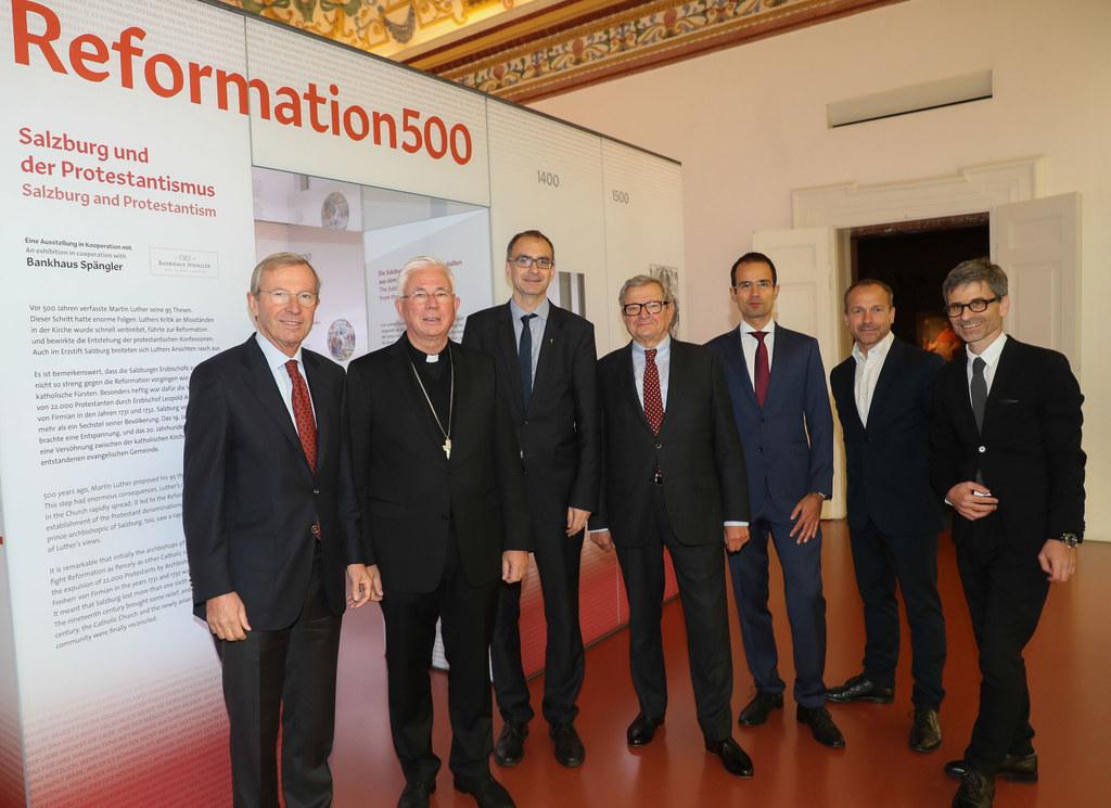 v.l. Wilfried Haslauer, Franz Lackner, Olivier Dantine, Heinrich Spängler, Erich..