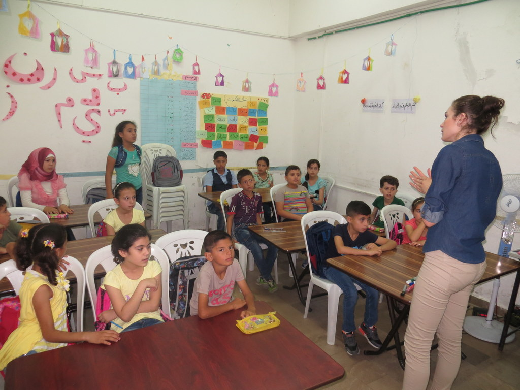 Szenen aus dem Schulalltag in Lattakia, Syrien
