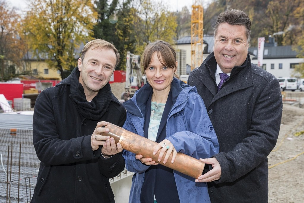 SPÖ-Clubobmann Bernhard Auinger, Landesrätin Martina Berthold, Landesrat Hans Ma..
