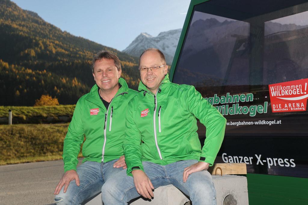 Rudolf Göstl und Bernhard Gruber (Vorstände Bergbahnen Wildkogel).