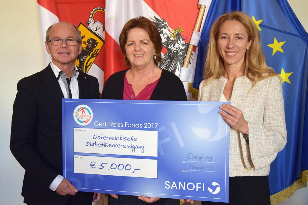 LH-Stv. Christian Stöckl  und  Sabine Radl, Geschäftsführerin von Sanofi Österre..