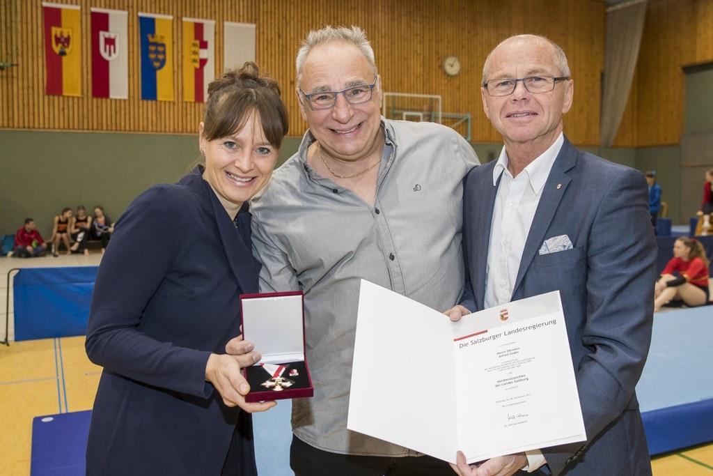 Landesrätin Martina Berthold, Alfred Szabo und Landeshauptmann-Stellvertreter Ch..