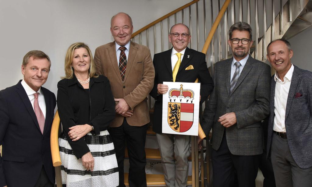 LAbg. Hans Scharfetter, Paula Mayrhofer, Wirtschaftskammerpräsident Konrad Stein..