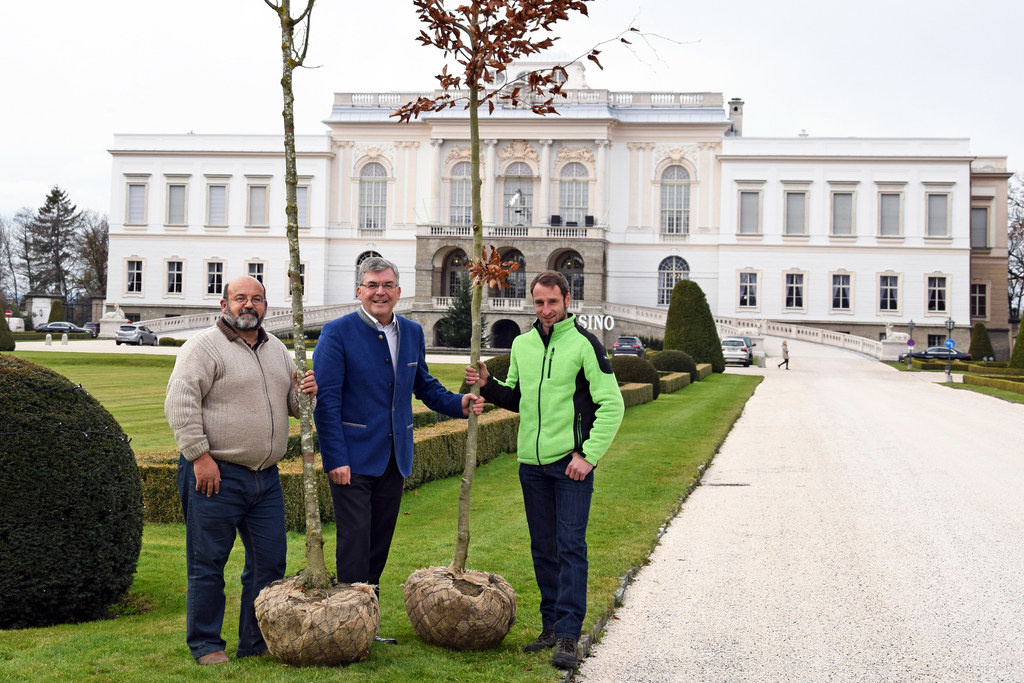 Christian Straßl, Landesrat Josef Schwaiger und Alexander Forsthuber im Kleßheim..