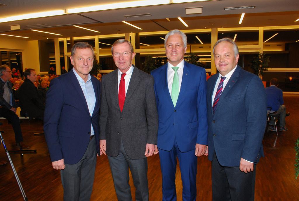 Hans Scharfetter, Landeshauptmann Wilfried Haslauer, Bürgermeister Gerhard Stein..