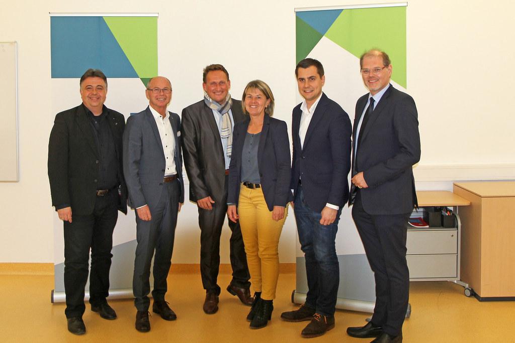 Bgm. Peter Padourek, LH-Stv Christian Stöckl, Gerhard Pöttler (Geschäftsführer T..
