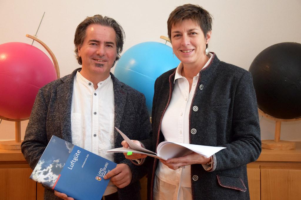 Alexander Kranabetter (Land Salzburg Immissionsschutz) und Landeshauptmann-Stell..