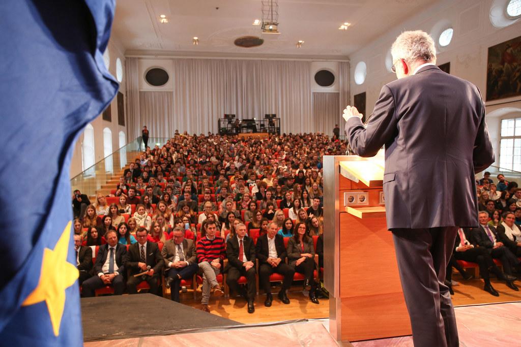 Einer der Höhepunkte im Jahr 2017: die Diskussionsveranstaltung mit Bundespräsid..
