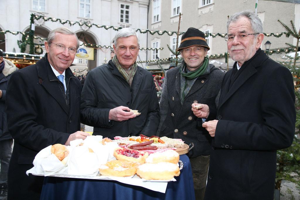 LH Wilfried Haslauer, Bgm. Harald Preuner, Wolfgang Haider (OM Salzburger Christ..