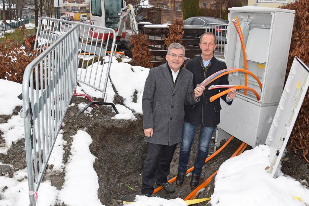 Landesrat Josef Schwaiger und Bürgermeister Johann Rohrmoser