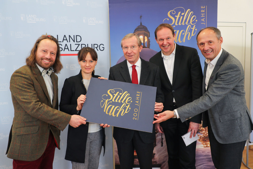 Paul Estrela, LR Martina Berthold, LH Wilfried Haslauer, Philip von Maldeghem un..