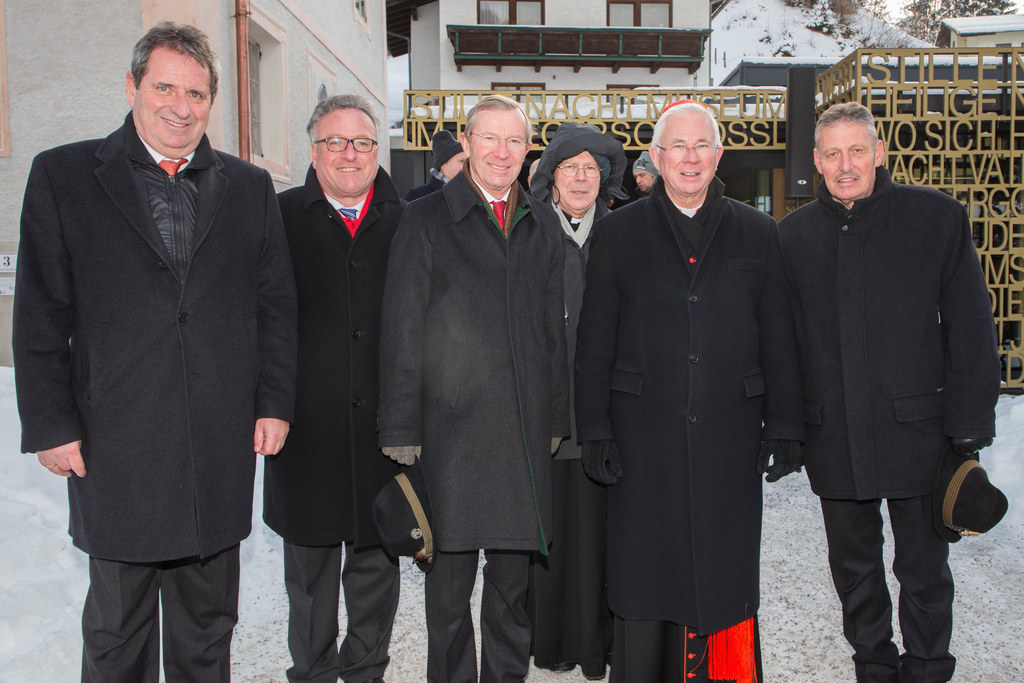 Bgm. Eugen Grader, Landesrat Heinrich Schellhorn, Landeshauptmann Wilfried Hasla..