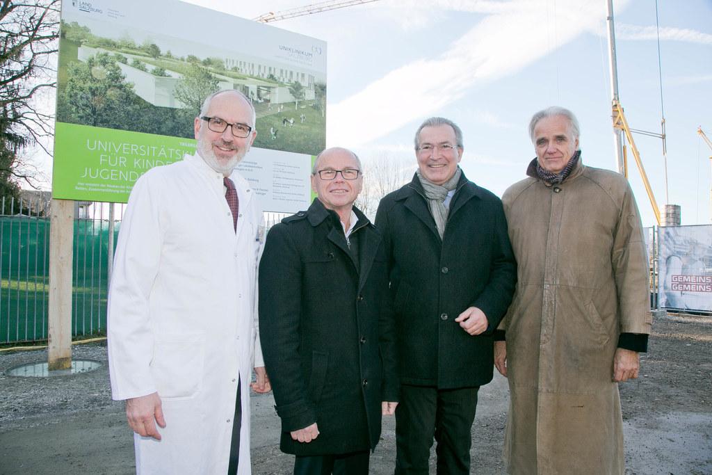Eugen Trinka, LH-Stv. Christian Stöckl, Paul Sungler und Leonhard Thun-Hohenstei..