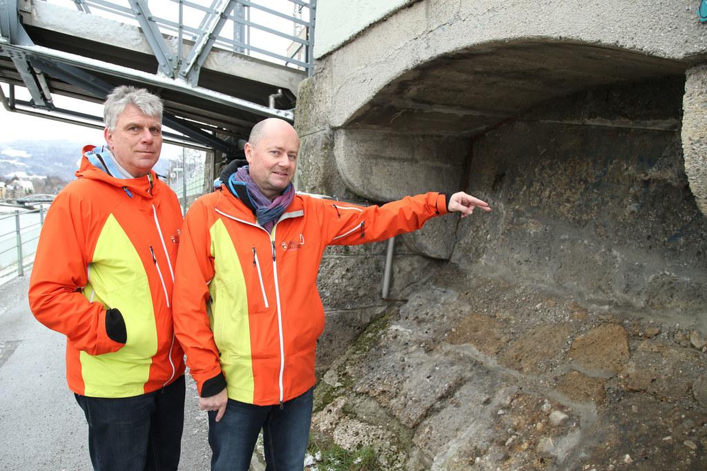 Rainer Braunstingl und Thomas Leikauf (l.) vom Landesgeologischen Dienst beim eh..