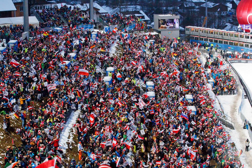 Das Skispringen in Bischofshofen anlässlich der Vierschanzentournee zählt zu den..