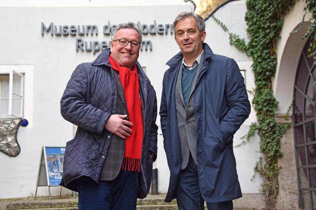 Landesrat Heinrich Schellhorn und Thorsten Sadowsky (design. Direktor des Museum..