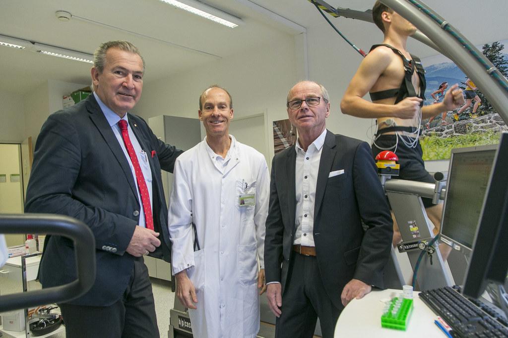 Paul Sungler (SALK-Geschäftsführer), Josef Niebauer (Leiter des Universitätsinst..