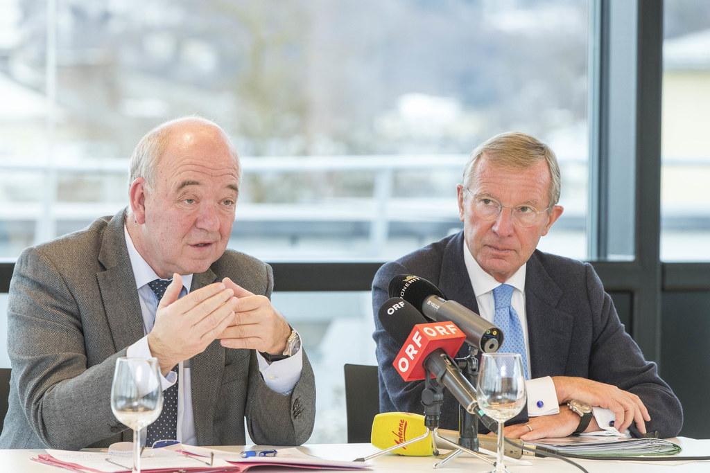 WKS-Präsident Konrad Steindl und Landeshauptmann Wilfried Haslauer.