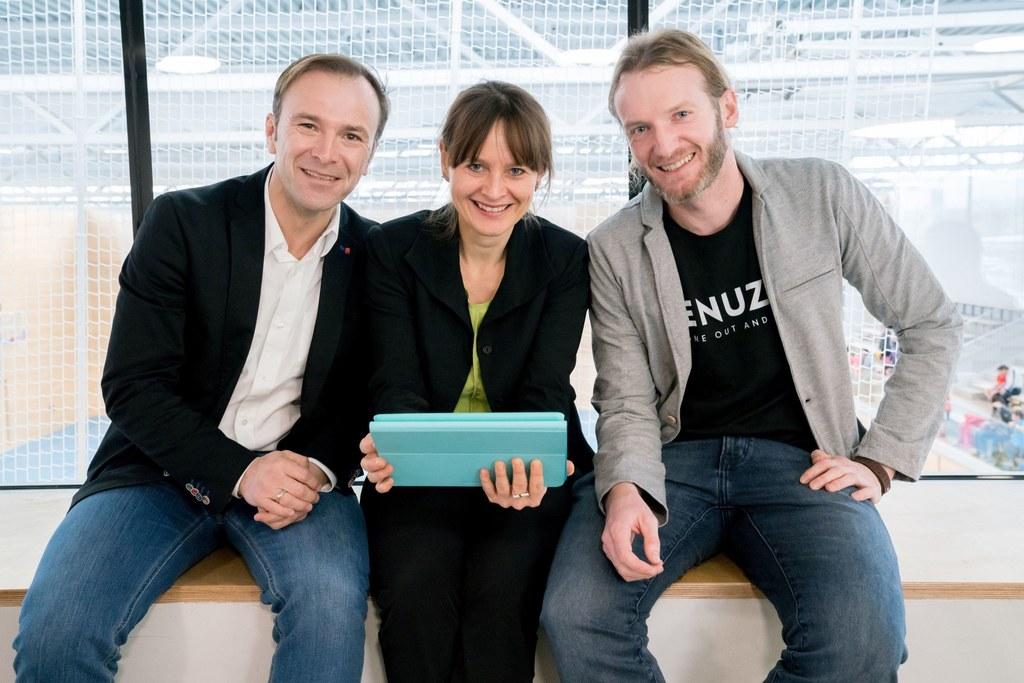 Landesrätin Martina Berthold, Bernhard Auinger und Wolfgang Lang.