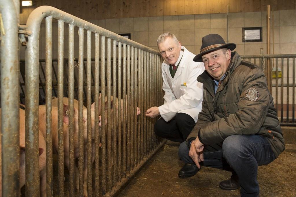 Landesveterinärdirektor Josef Schöchl und Georg Springl, Direktor der Landwirtsc..