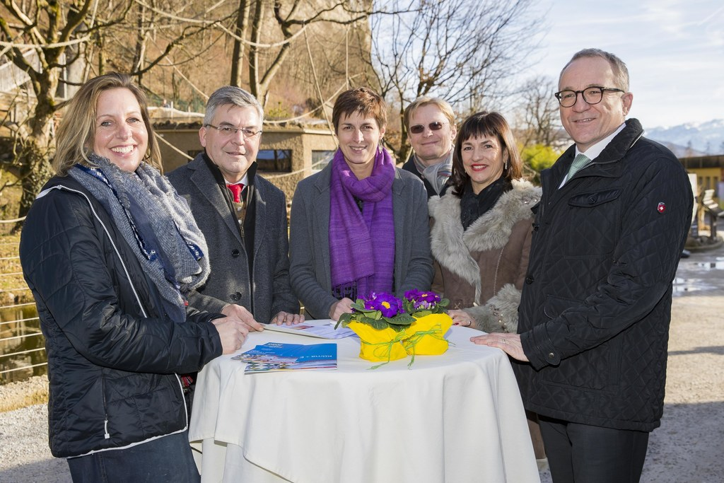 Zoo-Direktorin Sabine Grebner, Landesrat Josef Schwaiger, Landeshauptmann-Stellv..