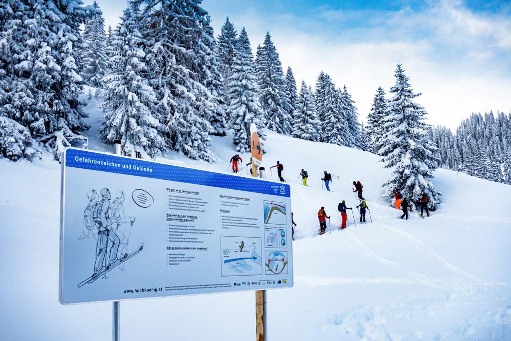 Auf insgesamt 720 Höhenmetern verläuft der Skitourenlehrpfad in Dienten.