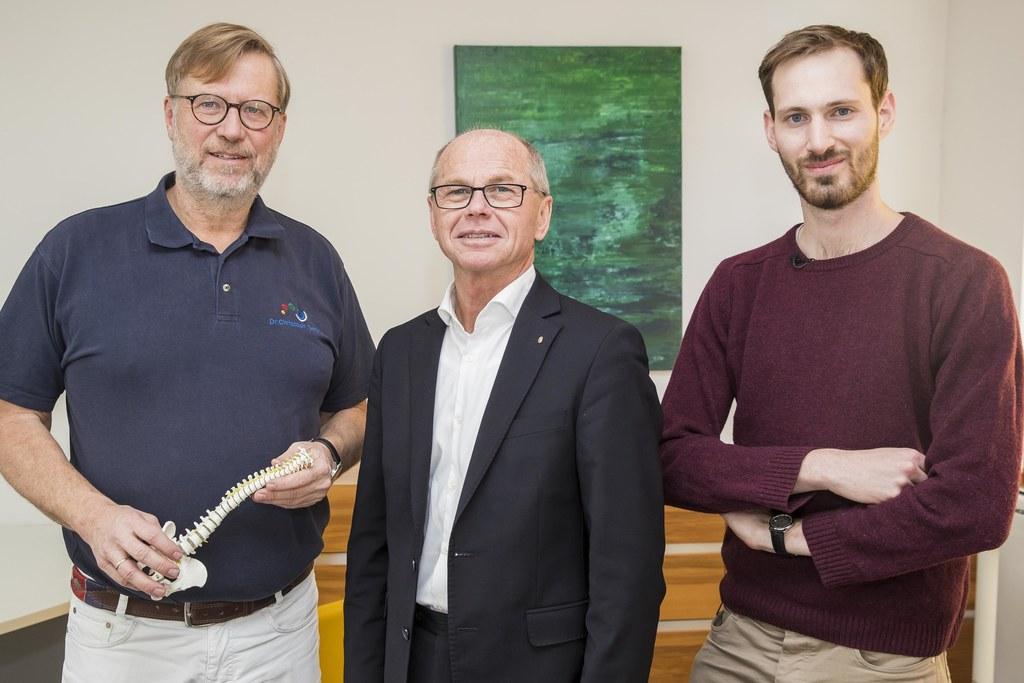 Allgemeinmediziner Christoph Dachs, Landeshauptmann-Stellvertreter Christian Stö..