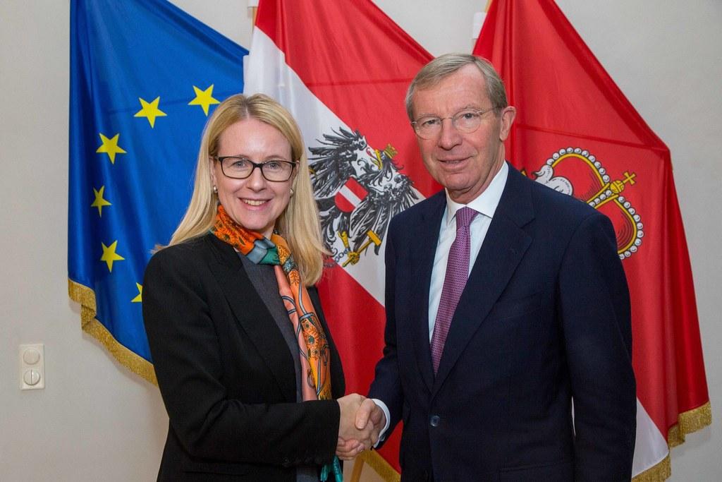 Antrittsbesuch von Bundesministerin Margarete Schramböck bei Landeshauptmann Wil..