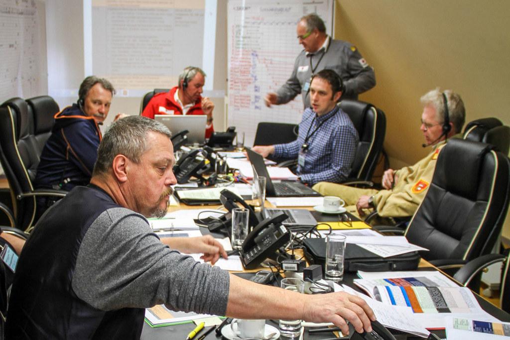 Katastrophenübung in Tamsweg, Lungau. 50 Personen üben drei Tage lang ein Katast..
