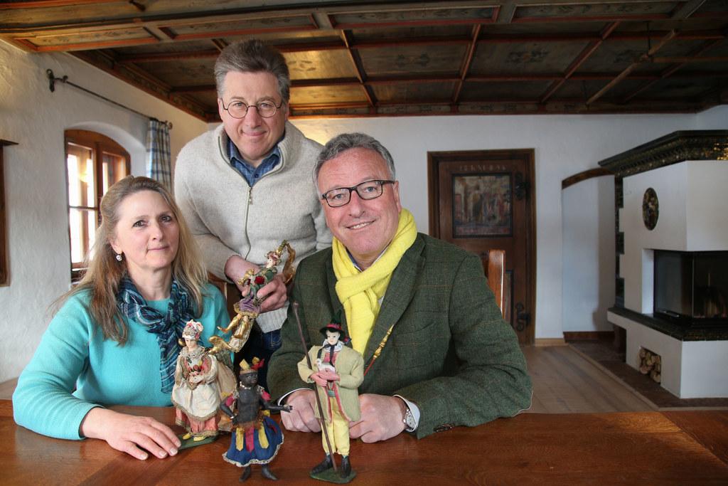 Landesrat Heinrich Schellhorn (re.) besuchte Waltraud und Rupert Rettenbacher au..