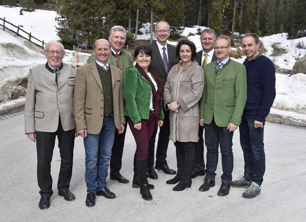 Übernahme der Prebersee Landesstraße, im Bild: Altbürgermeister Tamsweg Hans Rau..