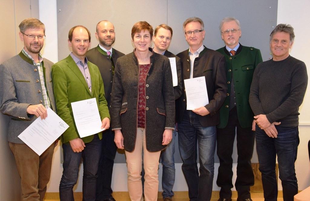 LH-Stv. Astrid Rössler mit den Naturschutzbeauftragten August Wessely, Klaus Kog..