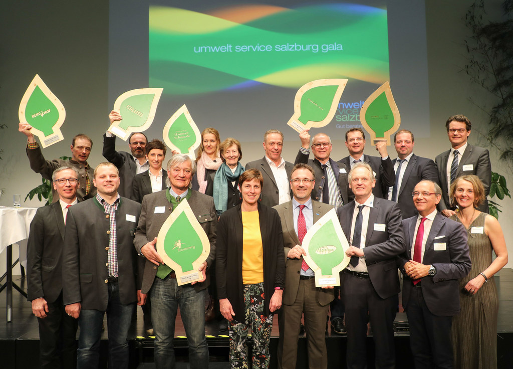 Landehauptmann-Stellvertreterin Astrid Rössler bei der umweltservice salzburg gala im Festsaal des WIFI Salzburg