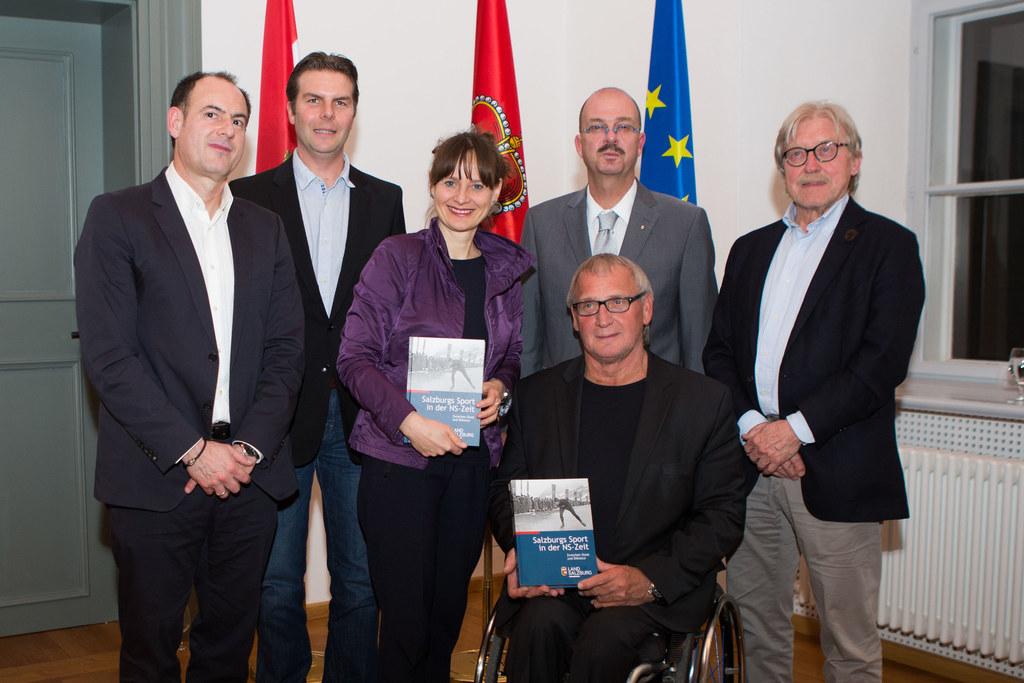 Buchpräsentation Salzburgs Sport in der NS-Zeit, im Bild: Minas Dimitriou, Andre..