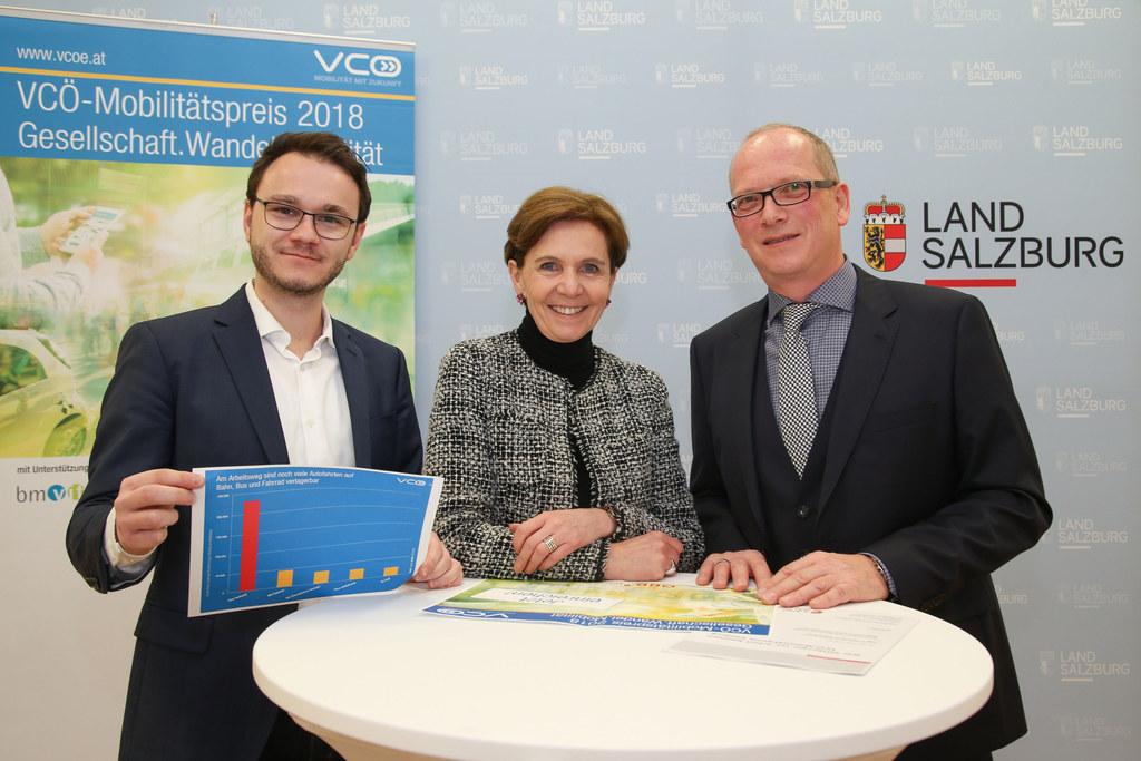 Salzburger legen täglich 17 Millionen Kilometer zurück, VCÖ Mobilitätspreis, im ..