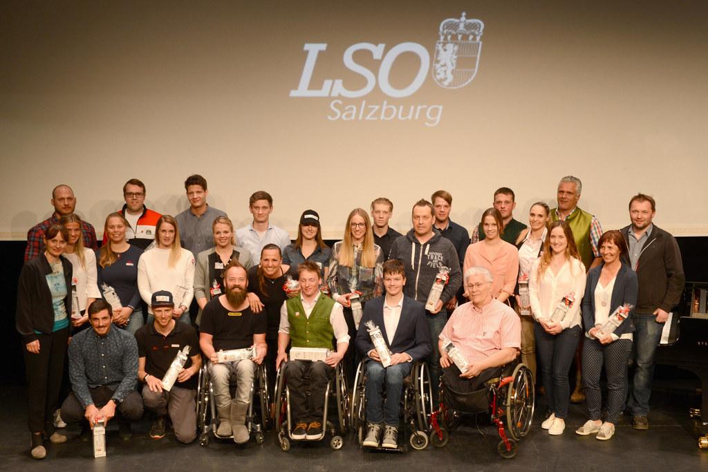 Sportler-Ehrung der LSO im Oval in Salzburg.