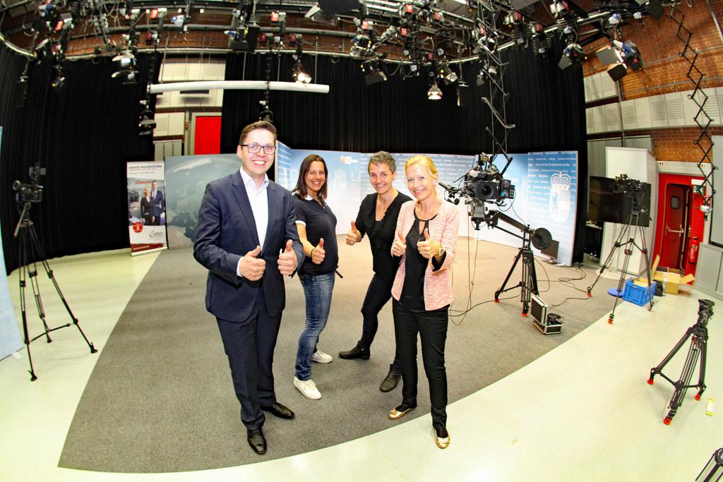 Landtagswahl 2018, Wahlzentrum Salzburg-Nonntal, im Bild: Chefredakteur Franz Wi..