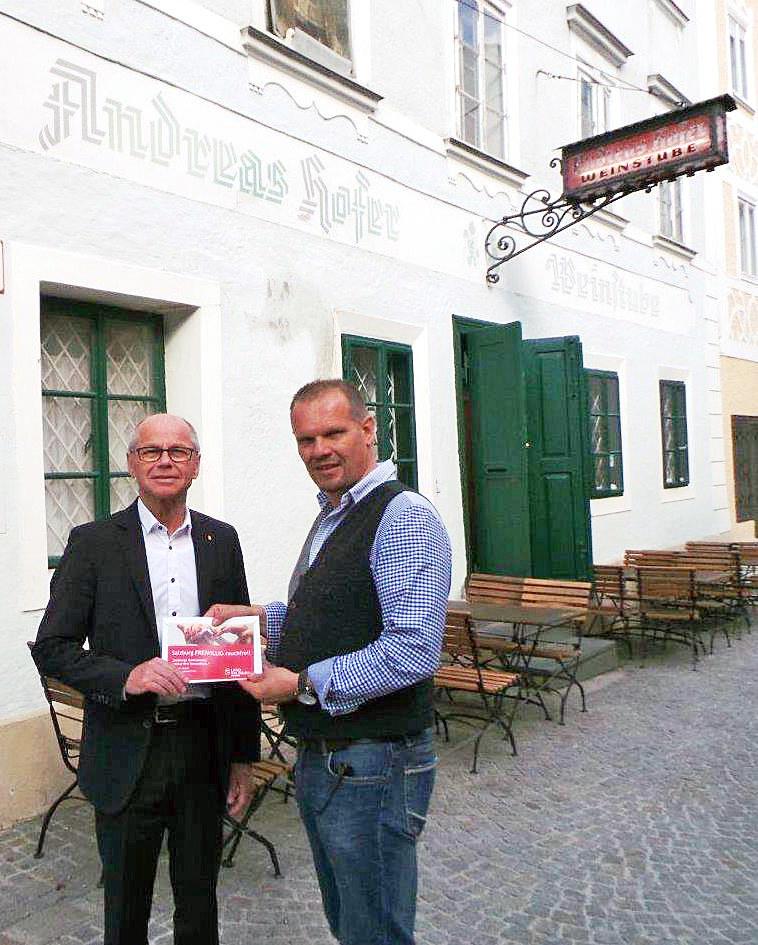 Landeshauptmann Stellvertreter Christian Stöckl und Roland Gruber (Andreas Hofer..